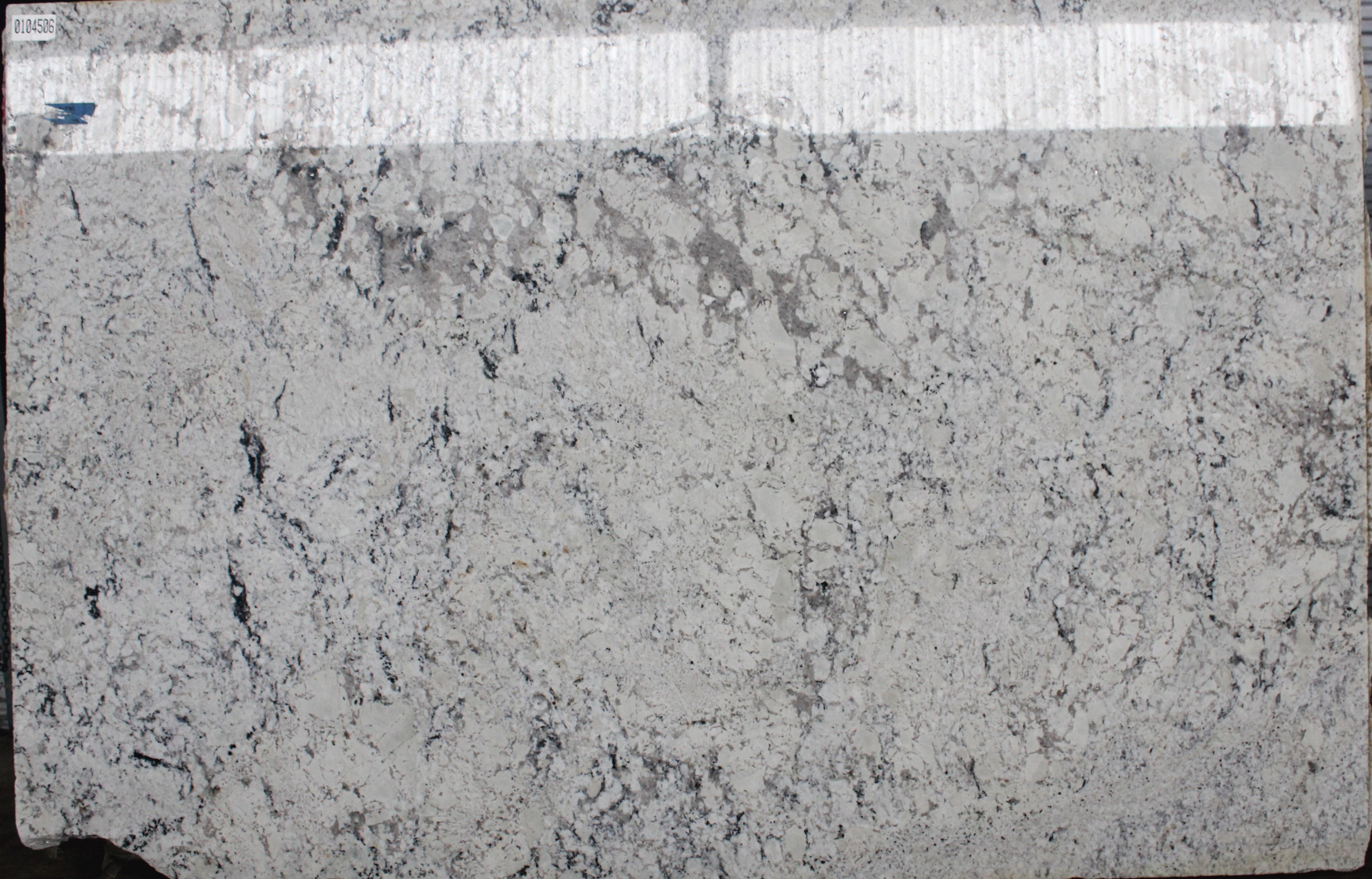 Aspen White Polished Granite Slab 78 X119 X3cm